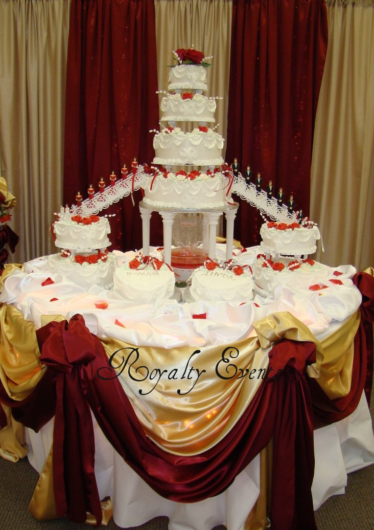 Royalty Events Cake Table Decor